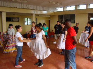 After an intensive hike, our feet are given a second workout as we learn a series of traditional Nicaraguan dances.