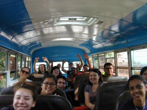 Our delegation was full of energy on the field trip to Rancho Don Luis, culminating in an epic karaoke battle.