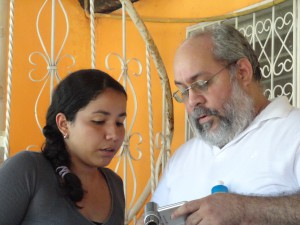 Luis Mora and Valeska, our Global Glimpse In Country coordinator. (Luis was her uncle)