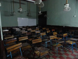 Our empty classroom waiting for students