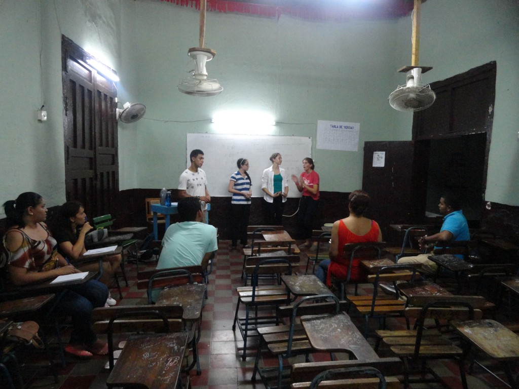The group teaching