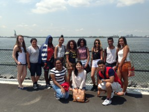 NYC Glimpsers spending time together on Governor's Island