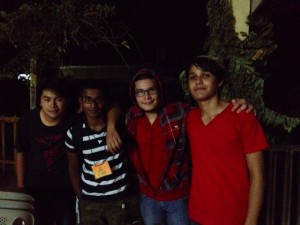 Justin, me, Amaroos, and Alvin