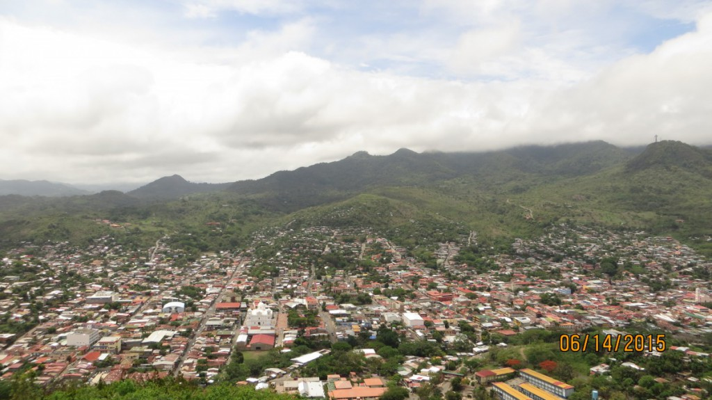 The view of Matagalpa, atop El Calvario.