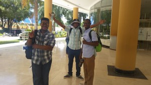 Leroy , Robert, and Kevin on the tour at the university in San Juan de la Manguana