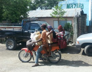 Transporting goods into DR