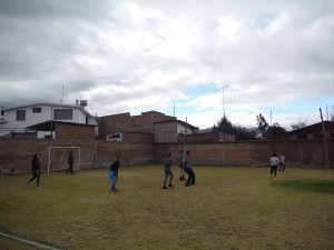 Playing Soccer :)