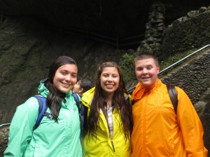 Anai, Jannett, and Joey on the hike