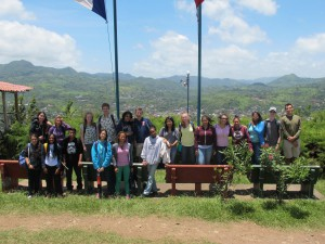 Group picture taking in the great view of Matagalpa.