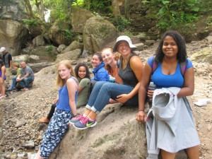Isabel, Synthia, Nikki, Maddie, Caitlin, and Nataly so happy just relaxing.